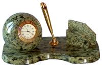 Часы настольные с визитницей и подставкой под ручку
