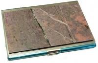 Визитница карманная из камня Родонит